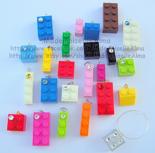 "'10 ""beads-charms"" Lego-Swarovski' is going up for auction at  3am Fri, Dec 21 with a starting bid of $5."