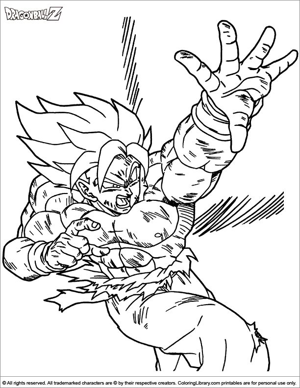 50 best super saiyan goku coloring pages images on ...
