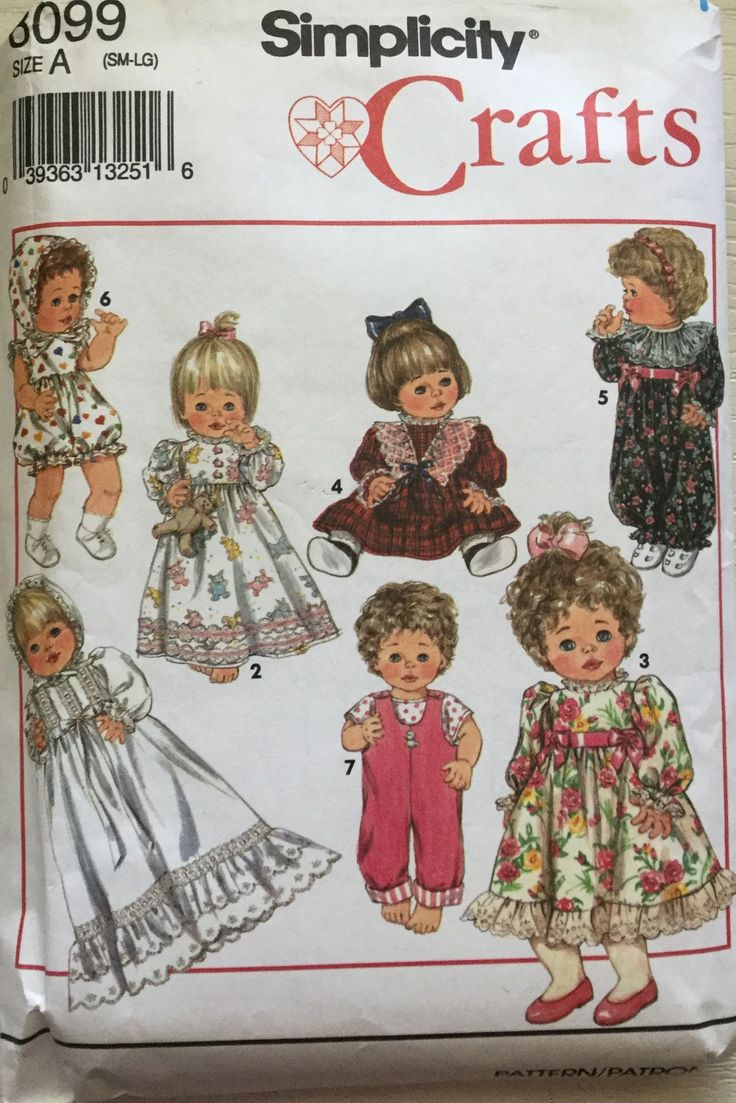 147 besten Simplicity Dolls,Clothes & Stuffed Dolls/Toys Sewing ...