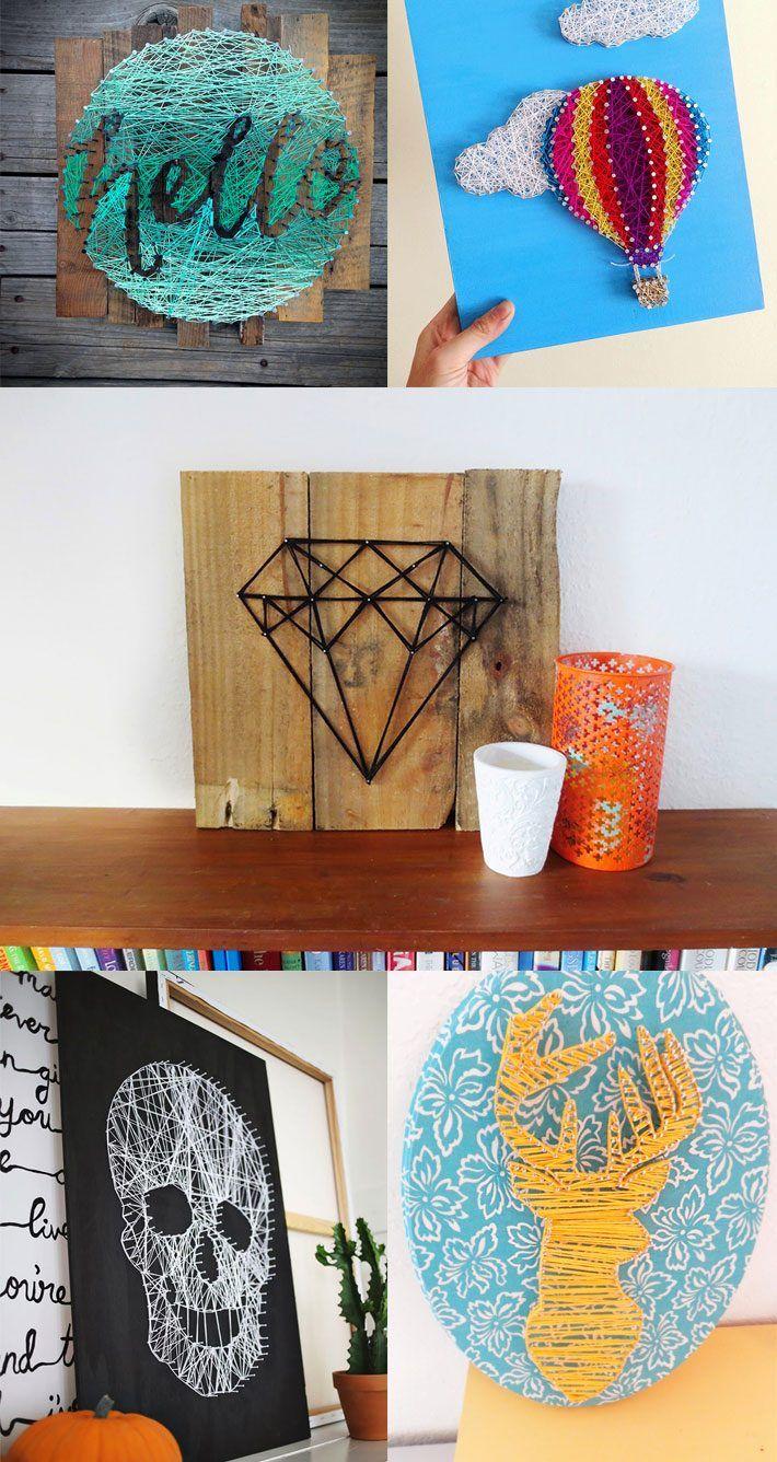 Como fazer String Art? Veja dicas no blog clicando na imagem!
