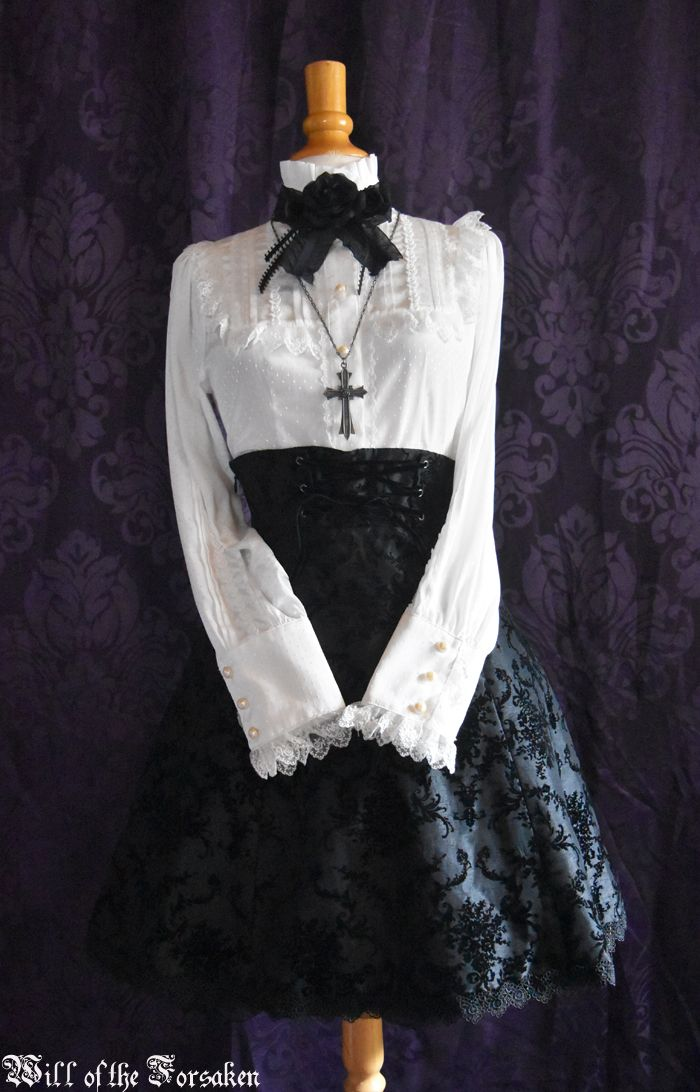Baby, the stars shine bright  Moi meme Moitie  Egl   The Ornament Flocked skirt  Ribbon Party blouse Gothic lolita