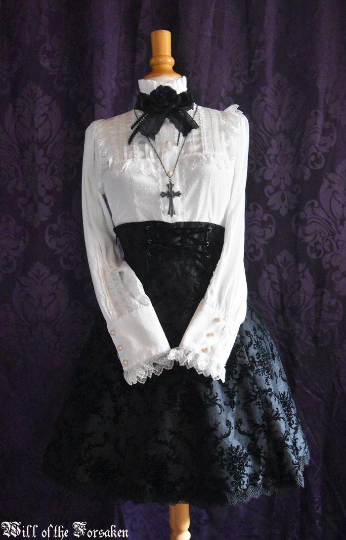 Baby, the stars shine bright  Moi meme Moitie  Egl   The Ornament Flocked skirt  Ribbon Party blouse Gothic lolita
