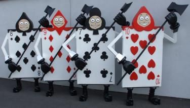 giant playing card soldier set of 4 prop alice in