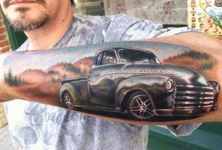 old truck tattoo