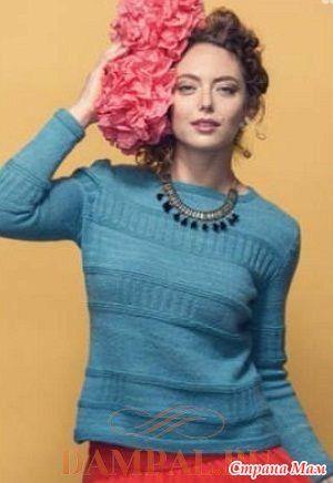 . Женский пуловер «Hipsemantic» - Вязание - Страна Мам