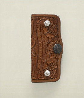 RRL Tooled Leather Key Bank
