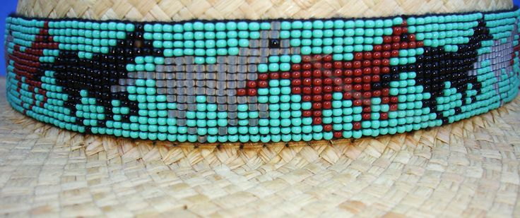 Make Beaded Hat Bands | ... Equestrian Decor Cowboy/Cowgirl Horse's Beaded HAT BAND W/Two Tassels