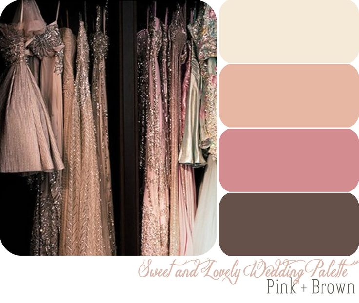 Image detail for -Sweet and Lovely Wedding Color Palette / Pink + Brown   Sweet and ...