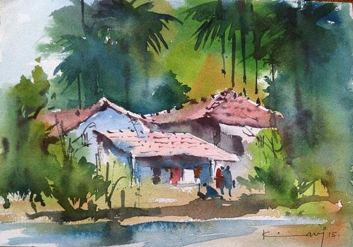 Pin By Ishi Sharma On Watercolor Landscape Watercolor Landscape