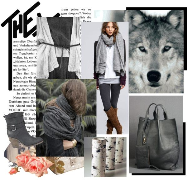 Wolf and birch ... by hunszil on Polyvore