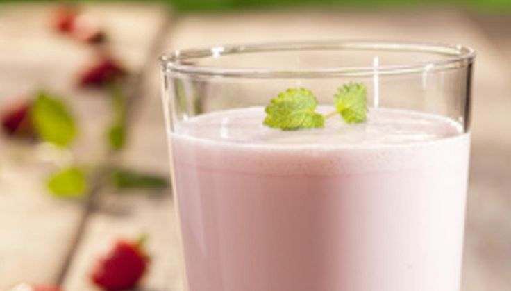 Raspberry buttermilk shake.  Instead of Yokebe I blitz 50g of oats and go from there.