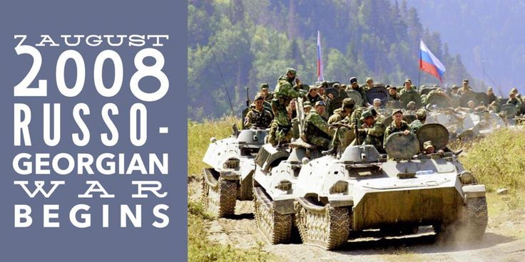 7 August 2008. Russo-Georgian War begins in the outskirts of the South Ossetian capital Tskhinvali