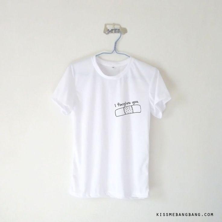 I Forgive You Bandage T-shirt $12.99 ; Pocket Tee ; #Tumblr ;  #Hipster Teen Fashion ; Shop More Tumblr Graphic Tees at KISSMEBANGBANG.COM