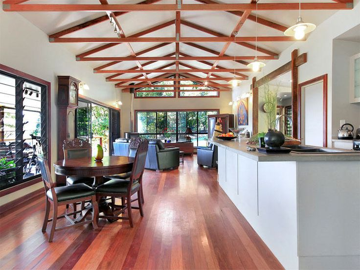 Exposed Truss Done Well On A Budget Roof Styles Modern Roofing Roof Truss Design