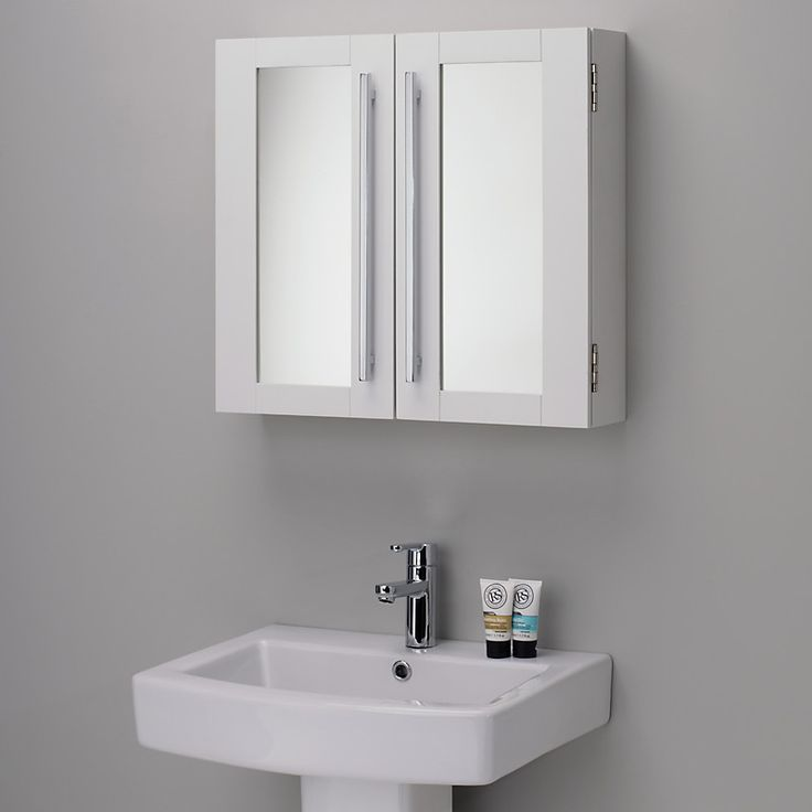 john lewis st ives double mirrored bathroom cabinet