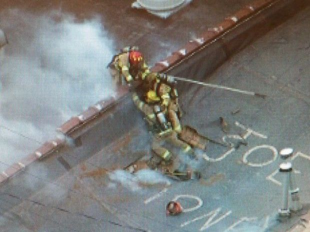 Several Michigan firefighters escaped an incredibly close call Thursday when the roof of the building they were on started to collapse.  They were tasked with going up to the roof of a burning dry cleaners to make holes to release some of the gas inside. Without any warning,...