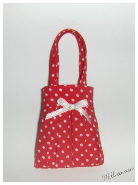 Red & cream polka dot Barbie doll bag