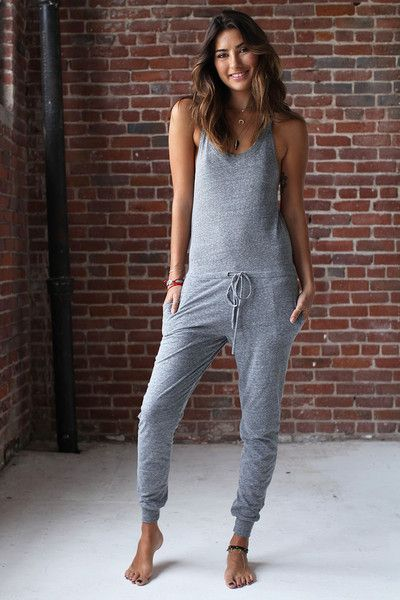 TRIBLEND ONE PIECE JUMPSUIT HEATHER GREY - Spiritual Gangster