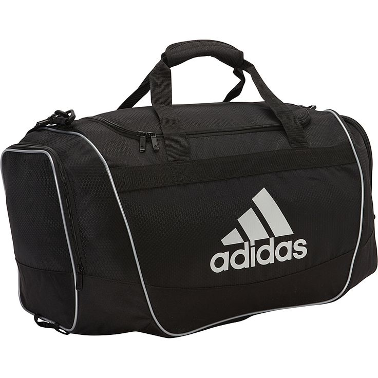 Image of adidas Defender Duffel II - Medium Black/Silver - adidas All Purpose Duffels