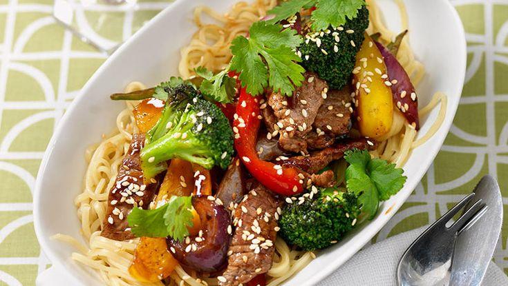 Recept wokad biff med grönsaker