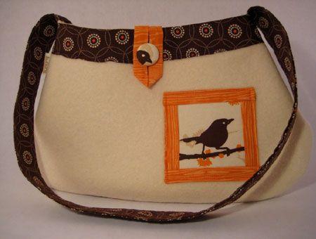 felted wool purse