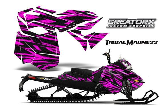 """Ski-Doo Rev Xm Summit Snowmobile Sled Graphics Kit Wrap Creatorx Decal Tmp FOR SALE • $299.95 • See Photos! Money Back Guarantee. """"TRIBAL MADNESS"""" """"NEW"""" CREATORX Custom Graphics Kit for: SKI-DOO Rev XM Snowmobile Graphic Kit 2013-2015 """"TRIBAL MADNESS"""" created by CREATORX ©2012 You can only get these kits from Graphic Kits 271103104346"""