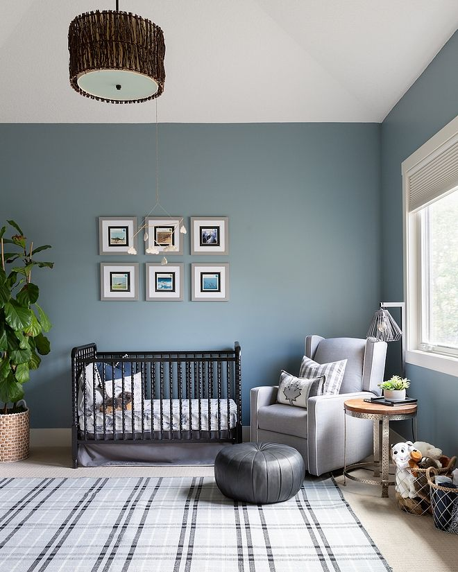 Boys Bedroom Paint Color Valspar Stormy Cove