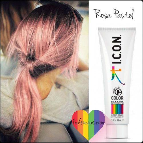 Descubre el tono #rosa pastel  favorecedor e ideal para todo tipo de pieles.... En cada lavado el tono se va aclarando, creando así nuevos tonos dinámicos... Puedes elegir entre 9 Colores vibrantes y versátiles inspirados en el #arcoiris  ¿Te atreves? Haz click aquí
