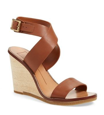 leather brown wedge sandals