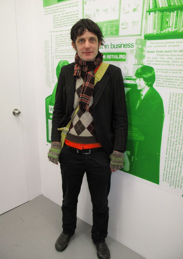 Street Fashion, Male ,Argyle Sweater, mittens, jeans and jacket 80's style , Dexter Fletcher - Careers in Retail