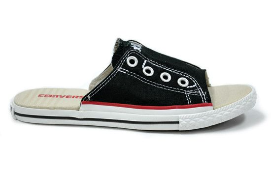"""Converse Shoes Canada""- womens Converse slippers red black"
