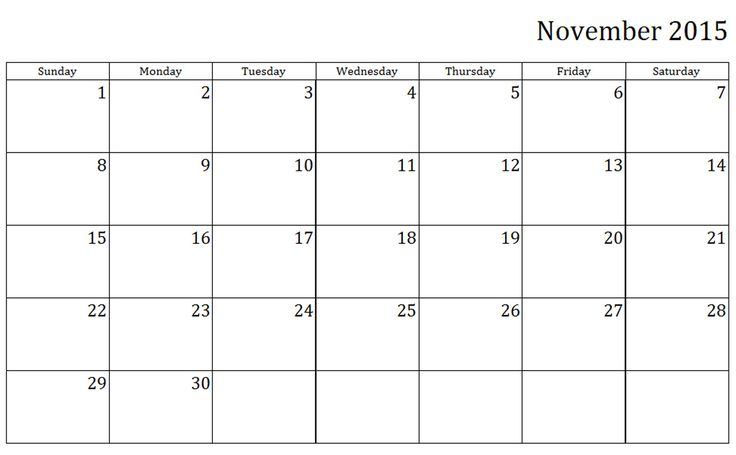 Blank Calendar November Pdf : Best ideas about blank calendar template on