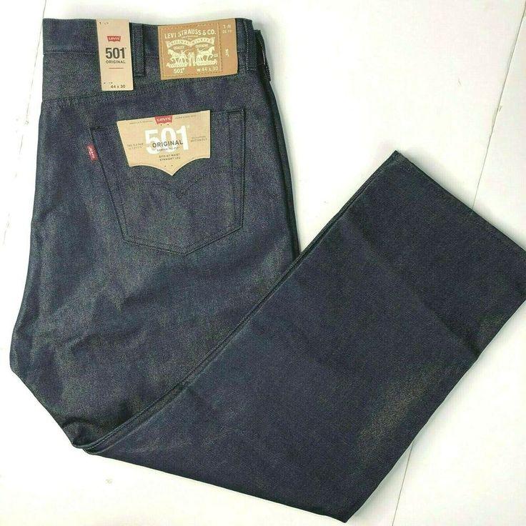 Levis 501 Gold Metallic Weft Denim Jeans 44 x 30 M…