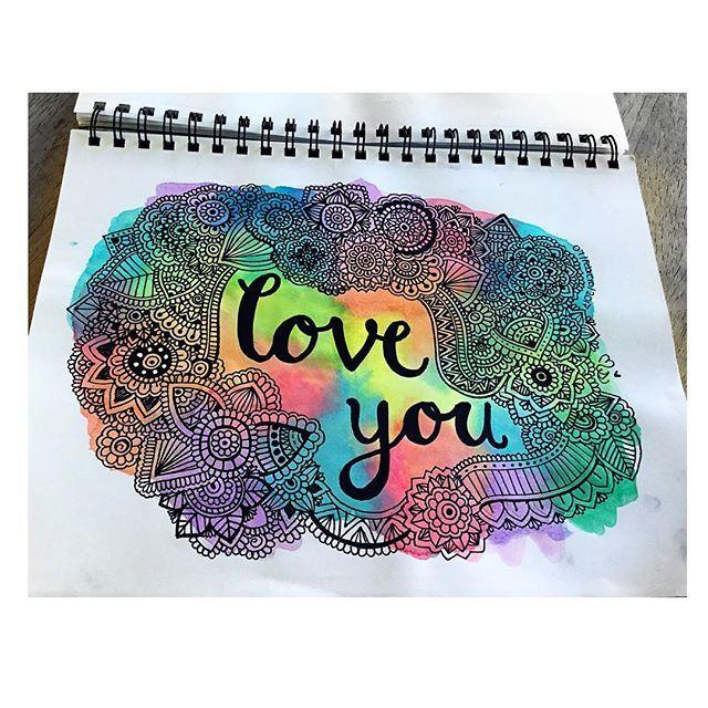 ❤️LOVE YOU❤️#zentangle #mandalatatto #mandalas #zentangleartist #colorido #colors #zentangles #zentanglecondani #zentangleconmigo #sketch #acuarelas @danielahoyos
