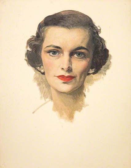 Margaret, Duchess of Argyll - 1953. Painted by Sir Herbert James Gunn.