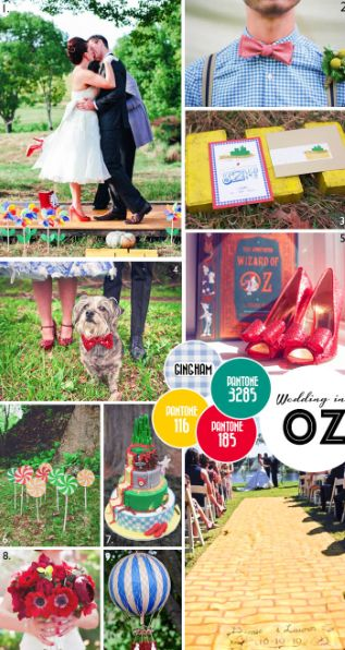 <p>With the Great Gatsby buzz of recent weeks, we've all found ourselves looking towards the big screen for wedding inspiration. So this week, enjoy our Wizard of Oz Moodboard!</p>