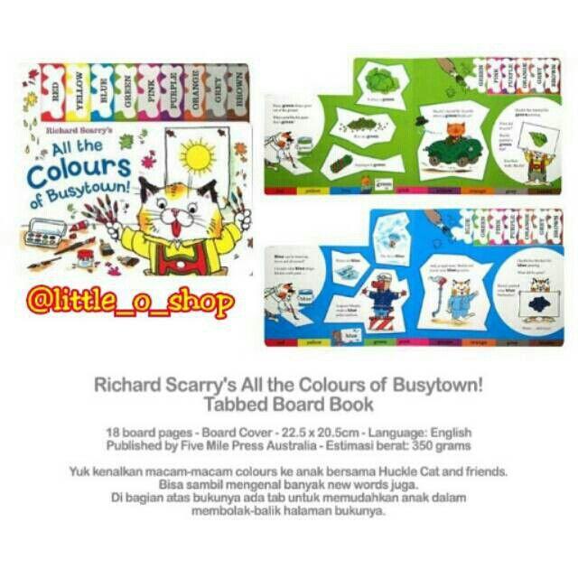 Saya menjual Richard Scarry's All the Colours of Busytown seharga Rp90.000. Dapatkan produk ini hanya di Shopee! http://shopee.co.id/littleoshop/959562 #ShopeeID