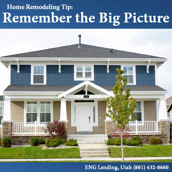 #Home #Remodeling #Tip: Remember the Big Picture. Long-term-#maintenance, #energy-loss, and #repair #expenses can add up quickly. Make sure you include them in your #calculations when comparing #prices.  #tipthursday #remodel  #Utah #UT #ENGLendingUtah #mortgage #refinance