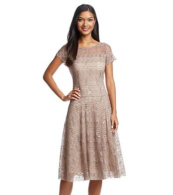 Sangria™ Sequin Fit And Flare Dress at www.bostonstore.com ...
