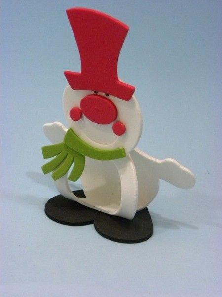 Porta bombom boneco de neve