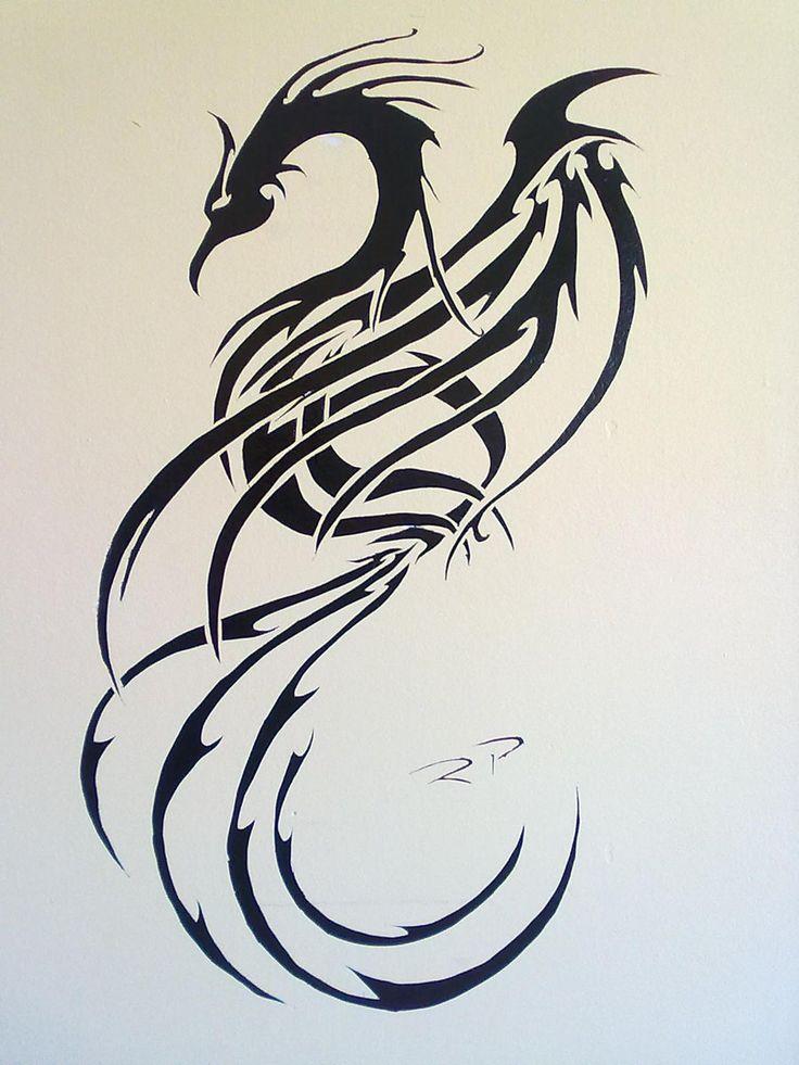 best 25 tribal phoenix tattoo ideas on pinterest. Black Bedroom Furniture Sets. Home Design Ideas