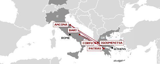 Rüzgarın İzinde |   Yunanistan İtalya Arası Feribotlar