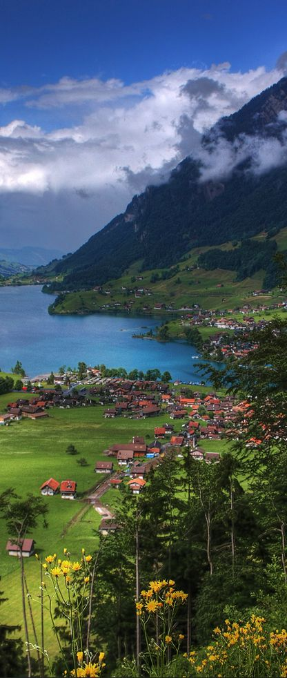 Lake Lungern ~ located in the canton of Obwalden in Switzerland                                                                                                                                                      Mais