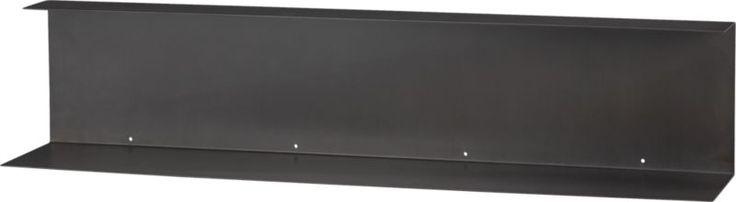 bent metal wall shelf in wall mounted storage | CB2