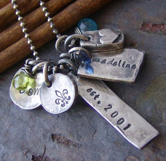 Eclectic Familyfine silver hand stamped by cinnamonsticks on Etsy, $90.00