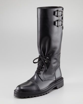 Banbridge Runway Tall Boot by Belstaff at Neiman Marcus.