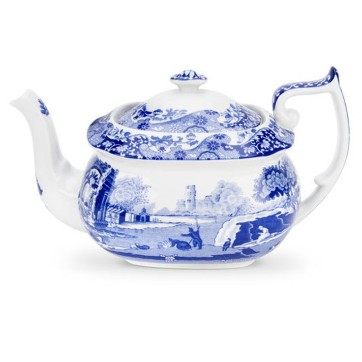 Blue Italian Teapot In Blue And White