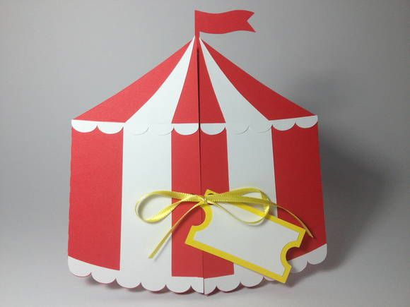 Convite Tent Cards {Circus}   A Personnalité - Convites & Lembranças   34A557 - Elo7