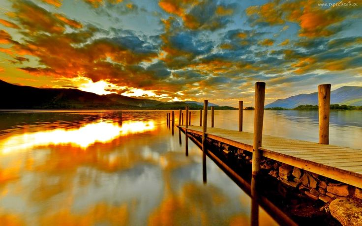 Chmury, Jezioro, Molo