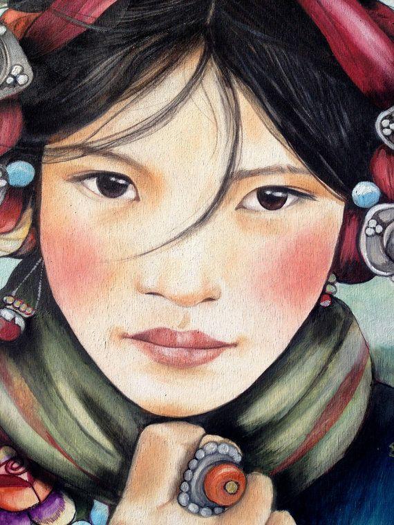 Mujer del Tíbet